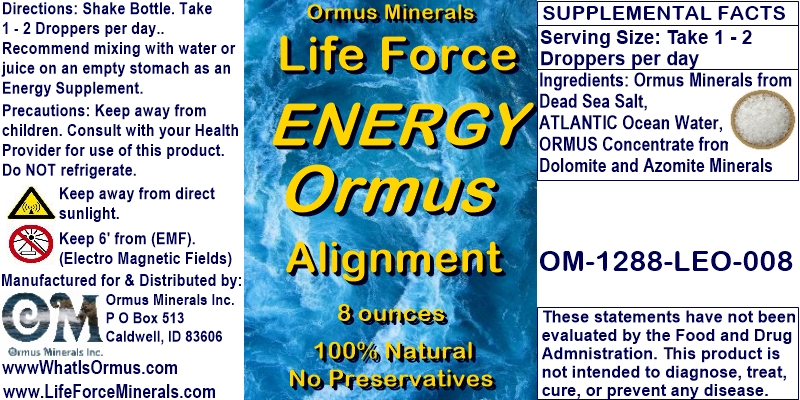 Life Force Minerals Ormus Gold Energy Alignment